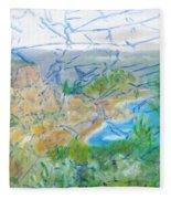 Invisible World Over Landscape Fleece Blanket