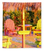 Invitation To Florida Sunset Fleece Blanket