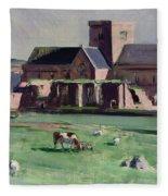 Iona Abbey From The Northwest Fleece Blanket