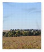 Iowa Fields Fleece Blanket