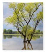 Iowa Flood Plains Fleece Blanket