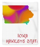 Iowa State Map Collection 2 Fleece Blanket
