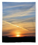Iowa Sunrise Fleece Blanket