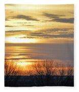 Iowa Sunrise Panorama Fleece Blanket