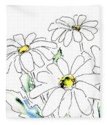 iPhone-Case-Flower-Daisy2 Fleece Blanket