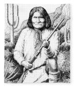 iPhone-Case-Geronimo Fleece Blanket