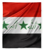 Iraq Flag Fleece Blanket