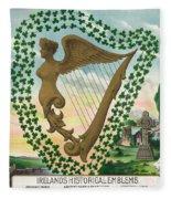 Ireland 1894 Fleece Blanket