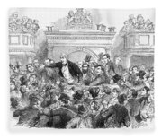 Ireland Election, 1857 Fleece Blanket
