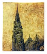 Ireland St. Brendan's Cathedral Spire Fleece Blanket