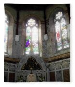 Ireland St. Brendan's Cathedral Stained Glass Fleece Blanket