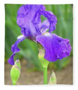 Iridescent Flower Fleece Blanket
