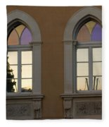 Iridescent Pastels At Sunset - Syracuse Arched Windows Fleece Blanket