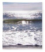 Iridescent Waves Fleece Blanket