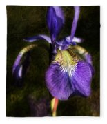 Iris Baroque Fleece Blanket