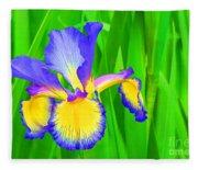 Iris Blossom Fleece Blanket