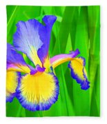 Iris Blossom Fleece Blanket