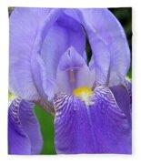 Iris Close Up 1 Fleece Blanket