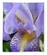Iris Close Up 3 Fleece Blanket