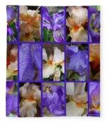 Iris Collage Fleece Blanket