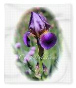 Iris Congratulations Card Fleece Blanket