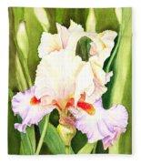 Iris Flower Dancing Petals Fleece Blanket