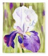 Iris Flower Purple Dance Fleece Blanket