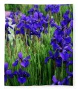 Iris In The Field Fleece Blanket