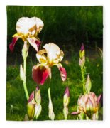 Iris In The Sun Fleece Blanket