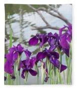 Iris Purple Lavender Fleece Blanket
