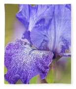 Iris Purple Pepper Fleece Blanket
