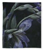 Iris Rain Fleece Blanket
