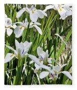 Irises Dancing In The Sun Painted Fleece Blanket