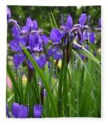 Irises In Spring Fleece Blanket