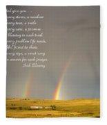 Irish Blessing Double Rainbow 07 11 14 Fleece Blanket