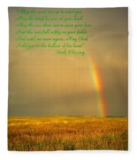 Irish Blessing Rain On The Prairie Fleece Blanket