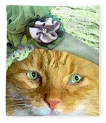 Irish Cat Fleece Blanket