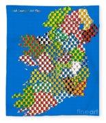 Irish County Gaa Flags Fleece Blanket