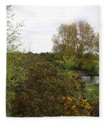 Irish Landscape In Spring Fleece Blanket