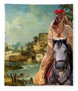 Irish Setter Art Canvas Print Fleece Blanket