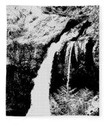 Iron Creek Falls Bw Fleece Blanket