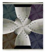 Iron Cross Ironic Cross Fleece Blanket