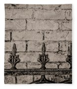 Iron Fence - New Orleans Fleece Blanket