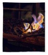 Iron In Fire Oiltreatment Fleece Blanket