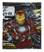 Iron Man Graffiti Fleece Blanket