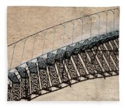 Iron Stairs Shadow Fleece Blanket
