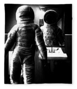 The Astronaut And The Bathroom Fleece Blanket