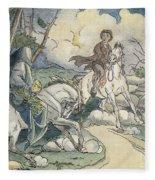 Irving: Sleepy Hollow, 1849 Fleece Blanket