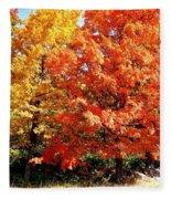 Is Autumn Already Fleece Blanket