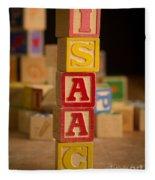Isaac - Alphabet Blocks Fleece Blanket